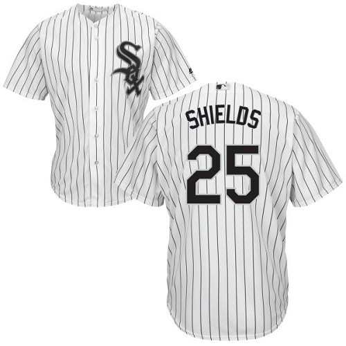 Chicago White Sox James Shields Men's White Home Cool Base Jersey
