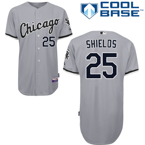 Chicago White Sox James Shields Youth Authentic Gray Road Cool Base Jersey