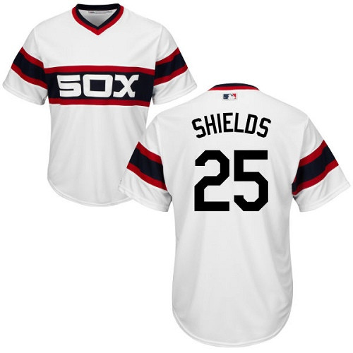 Chicago White Sox James Shields Youth Authentic White Alternate Home Cool Base Jersey