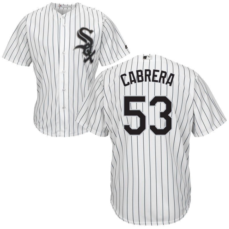 Chicago White Sox Melky Cabrera Youth White Home Cool Base Jersey
